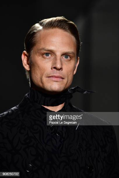 Arnaud Lemaire walks the runway during the Dior Homme Menswear Fall/Winter 20182019 show as part of Paris Fashion Week on January 20 2018 in Paris...