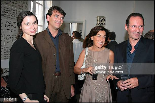 Arnaud Montebourg and Ruth Elkrief Party at Marek and Clara Halter place for the Jewish new year's eve The couple receive their friends at their...
