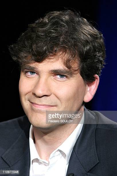 Arnaud Montebourg in Tv talk show Campus hosted by Guillaume Durand in Paris France on June 27th 2005