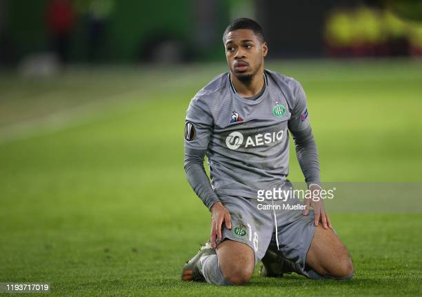 Arnaud Nordin of AS Saint-Etienne reacts during the UEFA Europa League group I match between VfL Wolfsburg and AS Saint-Etienne at Volkswagen Arena...