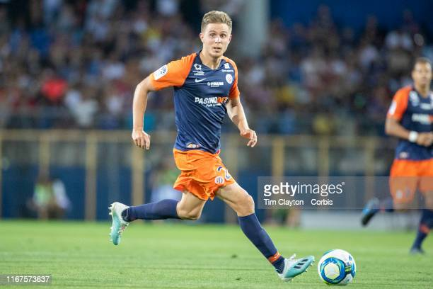 August 10: Arnaud Souquet of Montpellier in action during the Montpellier Vs Stade Rennes, French Ligue 1 regular season match at Stade de la Mosson...