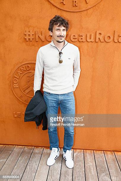 Arnaud Tsamere attends the 2016 French Tennis Open Day Three at Roland Garros on May 24 2016 in Paris France