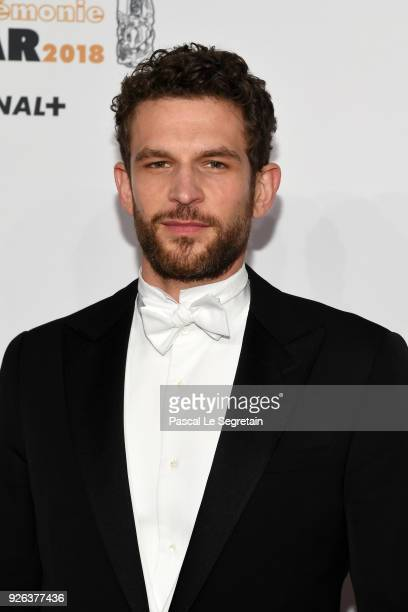 Arnaud Valois arrives at the Cesar Film Awards 2018 at Salle Pleyel on March 2 2018 in Paris France
