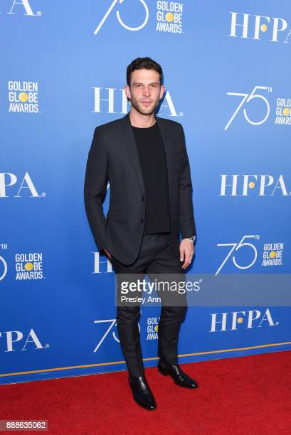 Arnaud Valois attends Hollywood Foreign Press Association Hosts Annual Holiday Party And Golden Globes 75th Anniversary Special Screening Arrivals at...