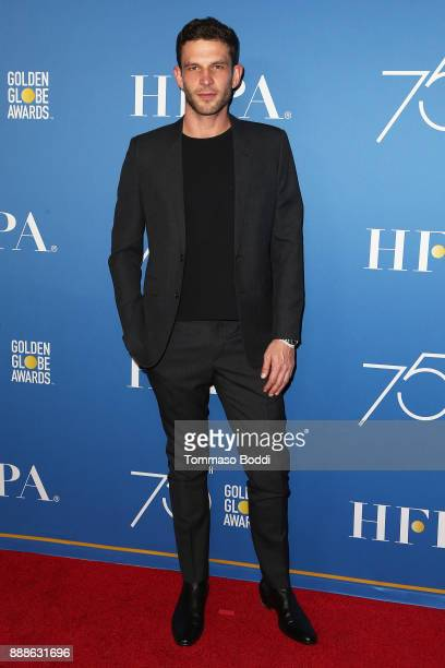 Arnaud Valois attends the Hollywood Foreign Press Association Hosts Annual Holiday Party And Golden Globes 75th Anniversary Special Screening at...