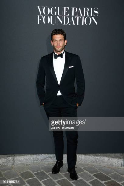 Arnaud Valois attends Vogue Foundation Dinner Photocall as part of Paris Fashion Week Haute Couture Fall/Winter 20182019 at Musee Galliera on July 3...