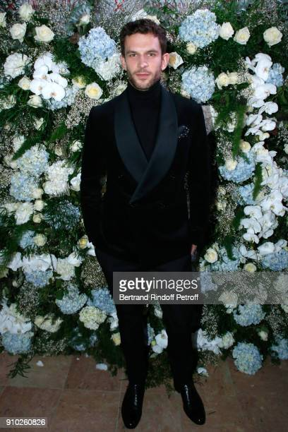 Arnaud Valois dressed in Ralph Lauren attend the 16th Sidaction as part of Paris Fashion Week on January 25 2018 in Paris France