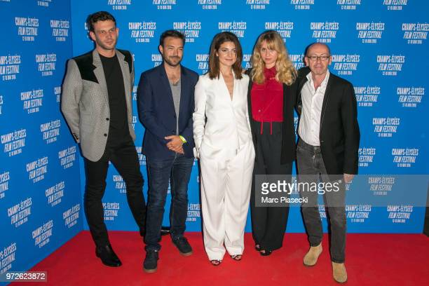 Arnaud Valois Hubert Charuel Esther Garrel Katell Quillevere and Christophe Taudiere attend the 7th Champs Elysees Film Festival at Cinema Gaumont...
