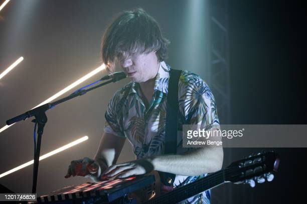 Arnaud Vial of Caravan Palace performs at O2 Academy Leeds on January 24 2020 in Leeds England