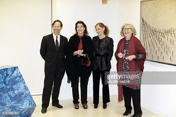Arnaud Weinberg director of the Whitney Museum of American Art Princess Caroline of Hanover Jennifer Gross curator of the exhibition and the director...