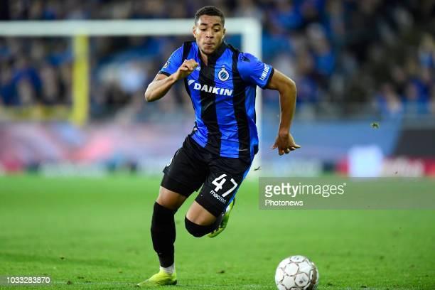 Arnaut Danjuma Groeneveld forward of Club Brugge is attacking during the Jupiler Pro League match between Club Brugge and KSC Lokeren OV at the Jan...