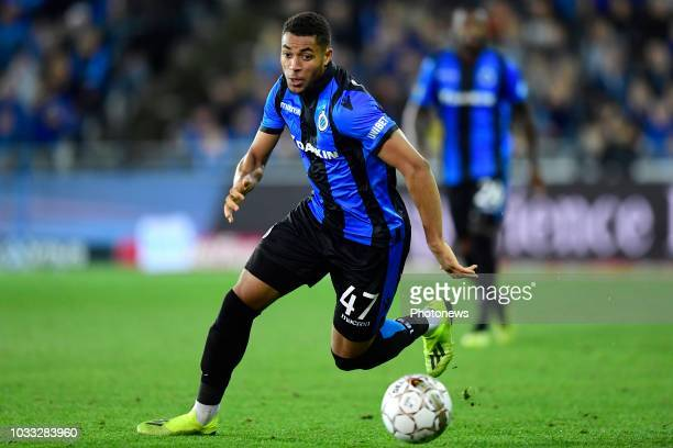 Arnaut Danjuma Groeneveld forward of Club Brugge pictured in action during the Jupiler Pro League match between Club Brugge and KSC Lokeren OV at the...