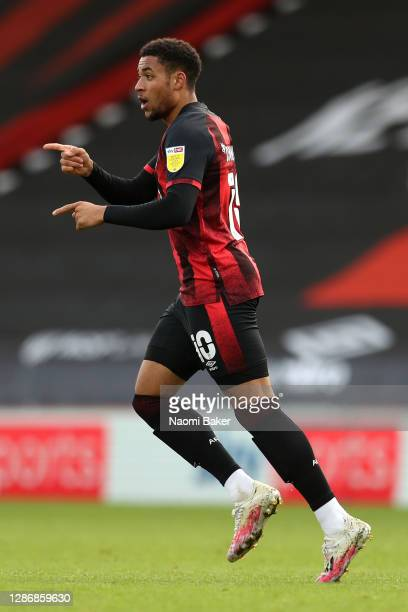 Arnaut Danjuma of AFC Bournemouth celebrates after scoring his team's second goal during the Sky Bet Championship match between AFC Bournemouth and...