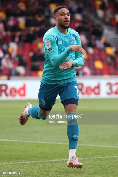 Arnaut Danjuma of AFC Bournemouth celebrates after scoring their sides first goal during the Sky Bet Championship Play-off Semi Final 2nd Leg match...