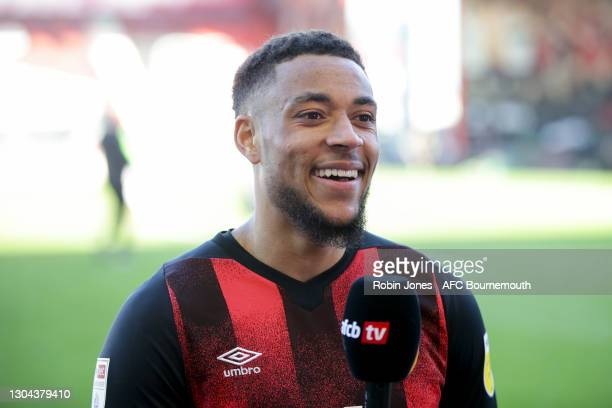 Arnaut Danjuma of Bournemouth after his sides 1-0 win during the Sky Bet Championship match between AFC Bournemouth and Watford at Vitality Stadium...
