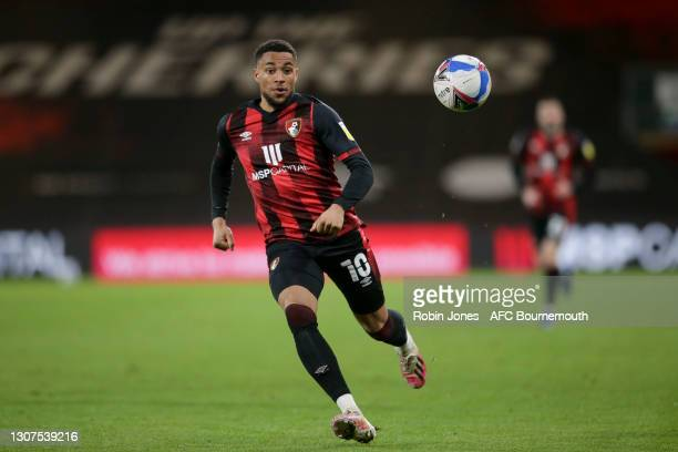 Arnaut Danjuma of Bournemouth during the Sky Bet Championship match between AFC Bournemouth and Swansea City at Vitality Stadium on March 16, 2021 in...
