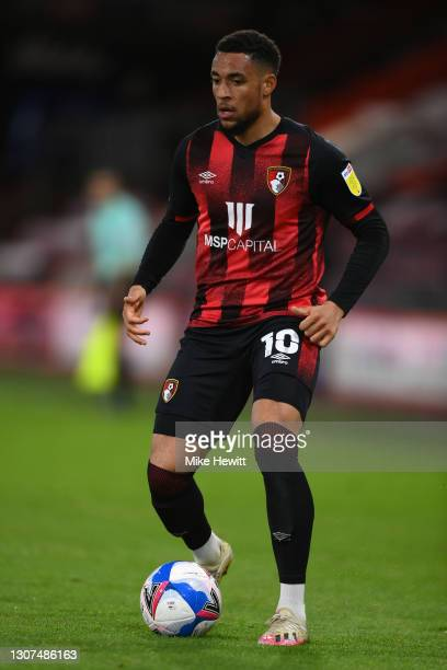 Arnaut Danjuma of Bournemouth in action during the Sky Bet Championship match between AFC Bournemouth and Swansea City at Vitality Stadium on March...