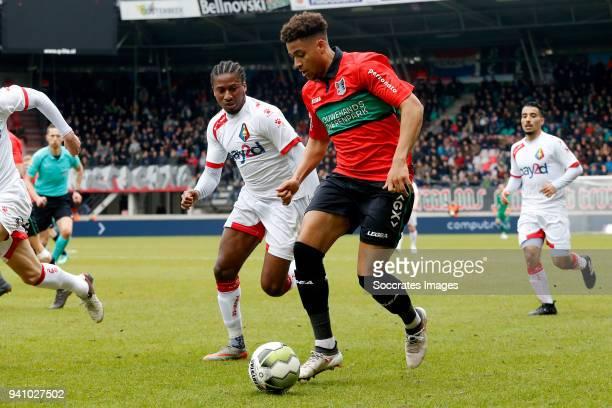 Arnaut Groeneveld of NEC Nijmegen during the Dutch Jupiler League match between NEC Nijmegen v Telstar at the Goffert Stadium on April 2 2018 in...