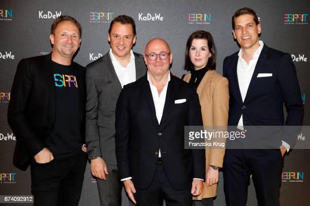 Arnd Mueller Knut Brokelmann Andre Maeder Simone Heift and Nico Heinemann attend the KaDeWe Launch Event 'Esprit by Opening Ceremony' on April 27...