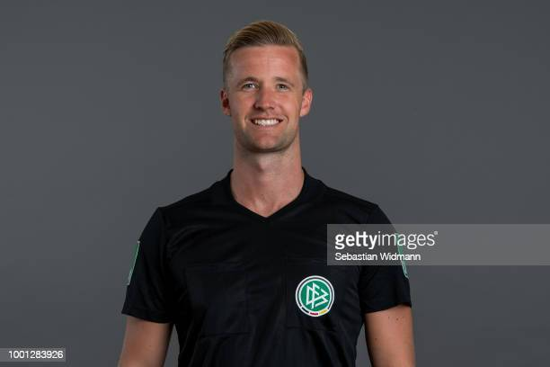 Arne Aarnink poses during the DFB Referees Portrait Session on July 18 2018 in Grassau Germany