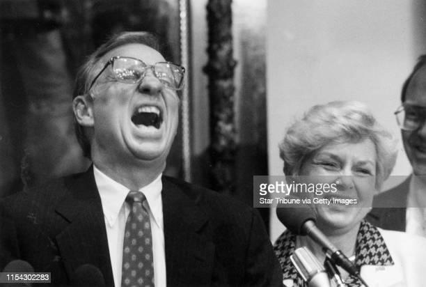 Arne Carlson and Lt. Gov.-elect Joanell Dyrstad. 1990