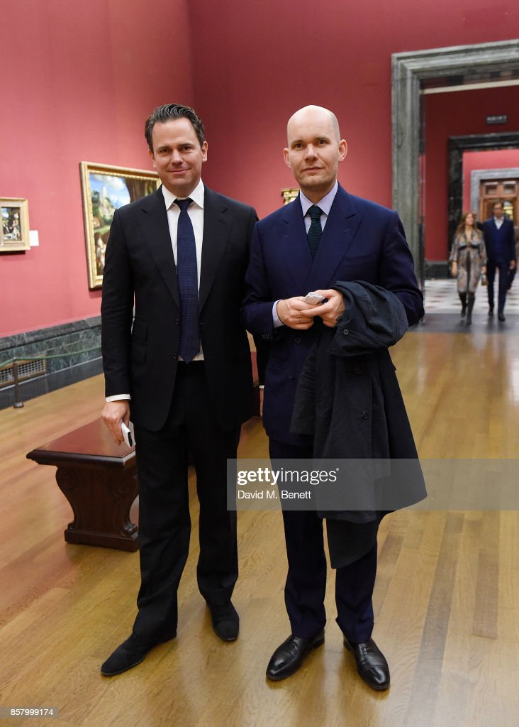 Arne Ehmann and Cornelius Tittel attends 'Unexpected View' co-hosted by the National Gallery and Galerie Thaddaeus Ropac on the occasion of Frieze 2017 at The National Gallery on October 5, 2017 in London, England.