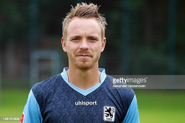 Arne Feick of 1860 Muenchen poses during the Second Bundesliga team presentation of TSV 1860 Muenchen on July 11 2012 in Munich Germany