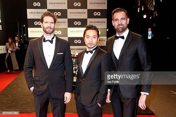 Arne Friedrich, Khoa Toan Nguyen and Christoph Metzelder attend the GQ Men of the year Award 2016 at Komische Oper on November 10, 2016 in Berlin,...