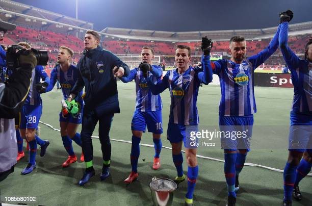 Arne Maier Dennis Smarsch Ondrej Duda Vladimir Darida and Vedad Ibisevic of Hertha BSC after the game between the 1FC Nuernberg and Hertha BSC at the...