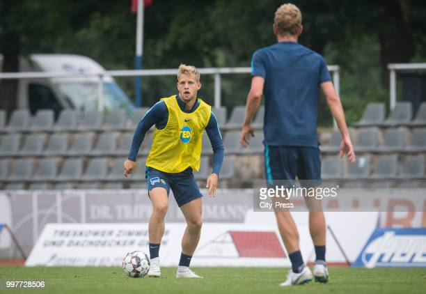 Arne Maier during the Hertha BSC training camp on july 13 2018 in Neuruppin Germany