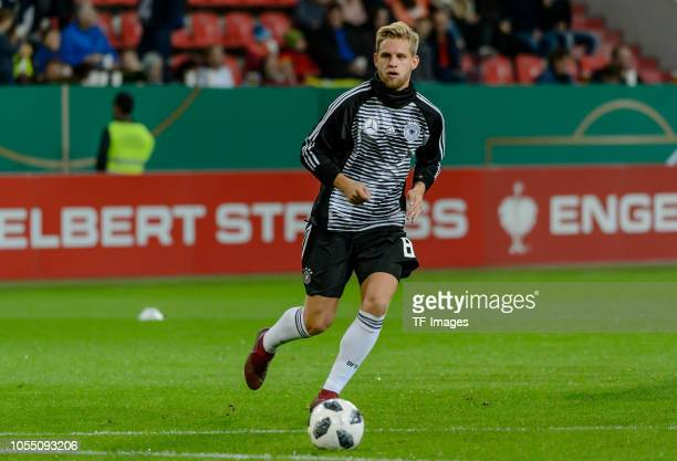 Arne Maier of Germany controls the ball during the 2019 UEFA Under21 European Championship Qualifier match between U21 Germany and U21 Norway at Audi...