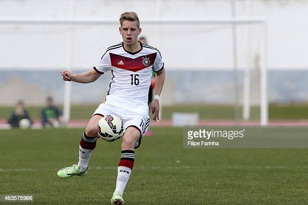 Arne Maier of Germany during the U16 UEFA development tournament match between Germany and Spain on February 14 2015 in Vila Real de Santo Antonio...