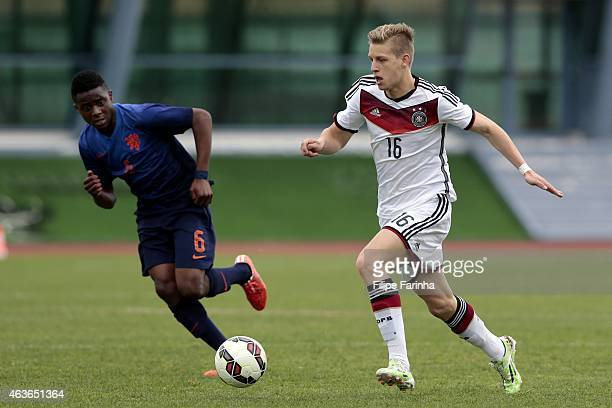 Arne Maier of Germany during the U16 UEFA development tournament between Germany and Netherlands on February 16 2015 in Vila Real de Santo Antonio...