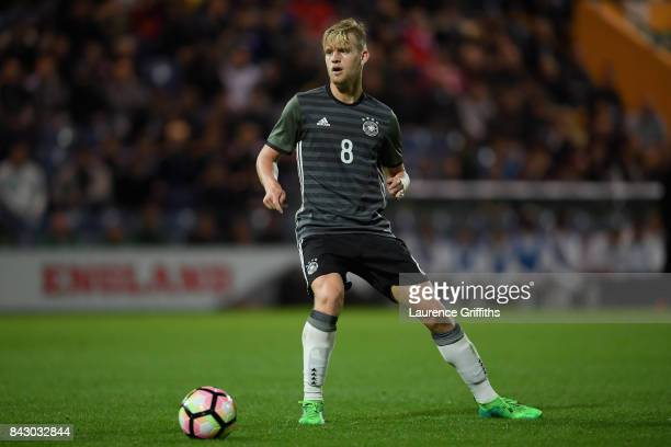 Arne Maier of Germany during the U19 International match between England and Germany at One Call Stadium on September 5 2017 in Mansfield England