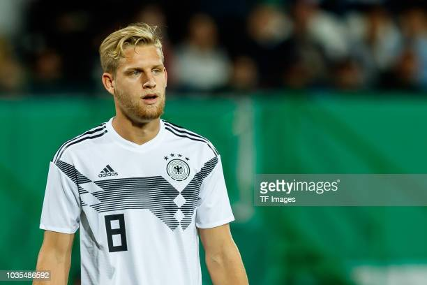 Arne Maier of Germany looks on during the U21 International friendly match between Germany and Mexico at Sportpark Ronhof on September 7 2018 in...