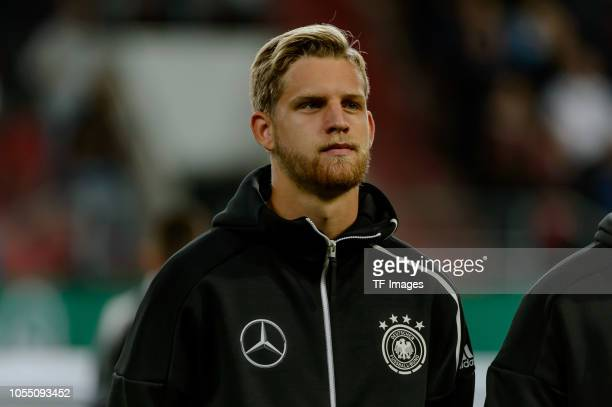Arne Maier of Germany looks on prior the 2019 UEFA Under21 European Championship Qualifier match between U21 Germany and U21 Norway at Audi Sportpark...