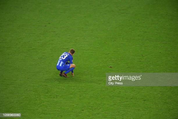 Arne Maier of Hertha BSC after the game between Hertha BSC and RB Leipzig at the Olympic Stadium on november 3 2018 in Berlin Germany