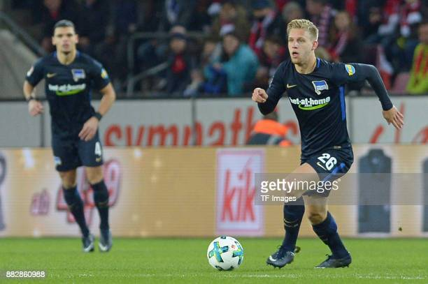 Arne Maier of Hertha BSC Berlin controls the ball during the Bundesliga match between 1 FC Koeln and Hertha BSC at RheinEnergieStadion on November 26...