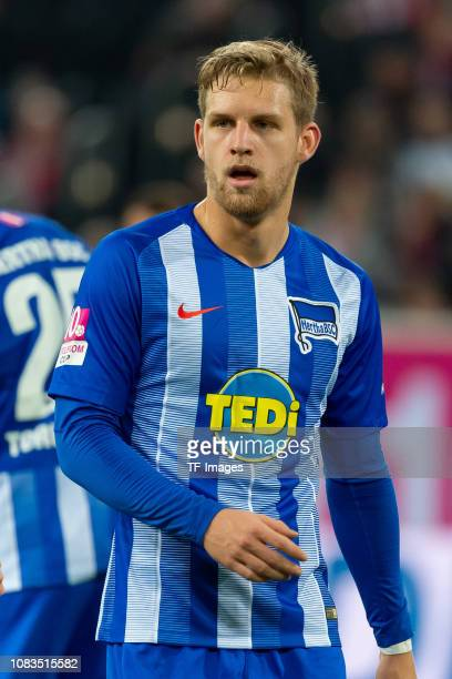 Arne Maier of Hertha BSC Berlin looks on during the Telekom Cup 2019 Semifinal match between Borussia Moenchengladbach and Hertha BSC Berlin at...