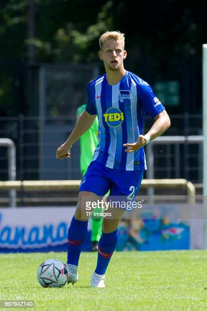 Arne Maier of Hertha BSC controls the ball during the TEDiCup match between Hertha BSC and Westfalia Herne on July 8 2018 in Herne Germany