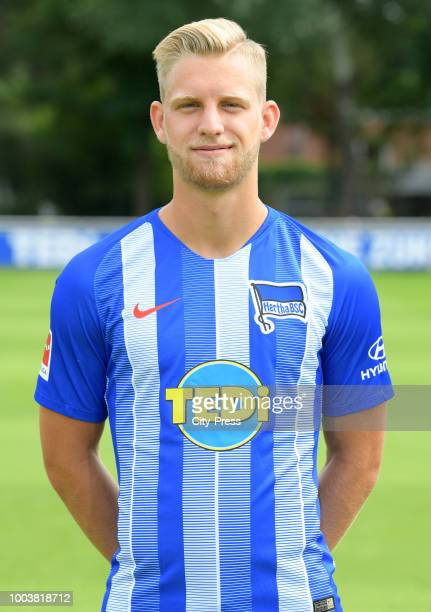 Arne Maier of Hertha BSC during the DFL media day at the Schenkendorfplatz on july 22 2018 in Berlin Germany