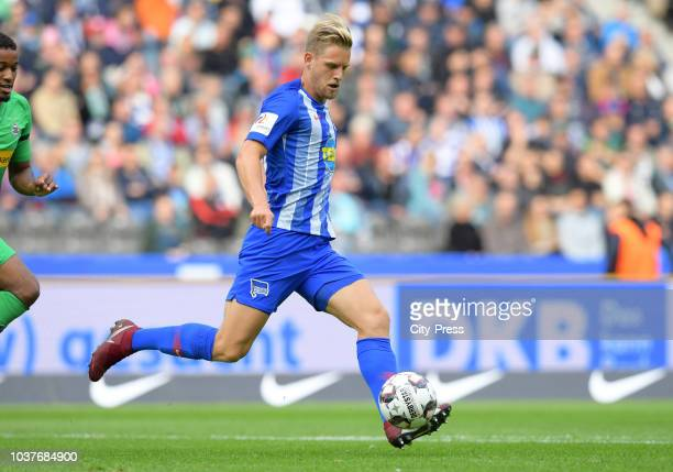 Arne Maier of Hertha BSC during the game between Hertha BSC and Borussia Moenchengladbach at the Olympiastadion on september 22 2018 in Berlin Germany