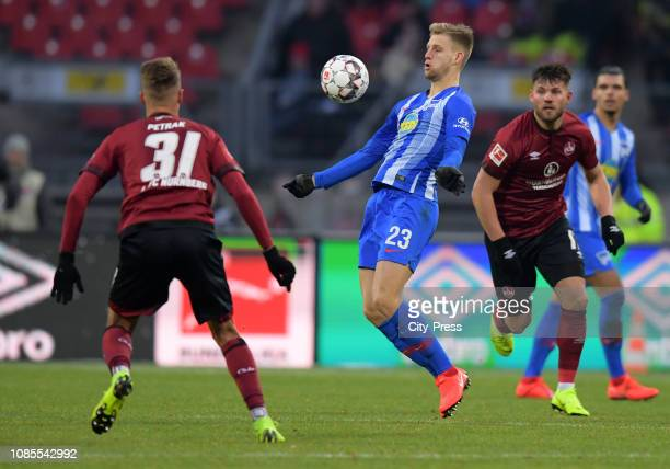 Arne Maier of Hertha BSC during the game between the 1FC Nuernberg and Hertha BSC at the MaxMorlockStadion on january 20 2019 in Nuremberg Germany