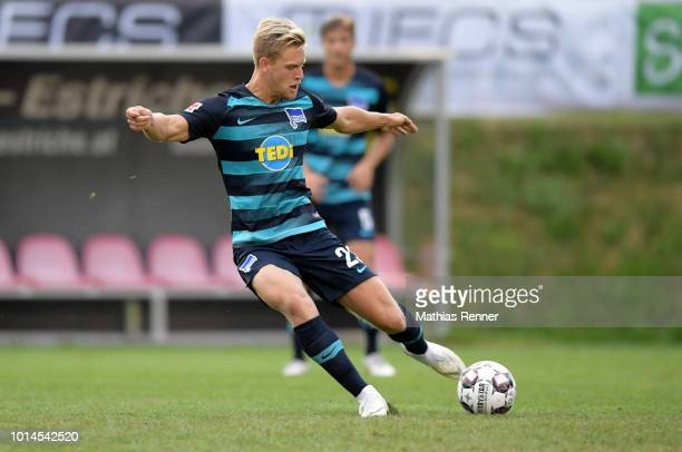 Arne Maier of Hertha BSC during the test test match between Hertha BSC and Aiginiakos FC at the Athletic Area Schladming on august 10 2018 in...