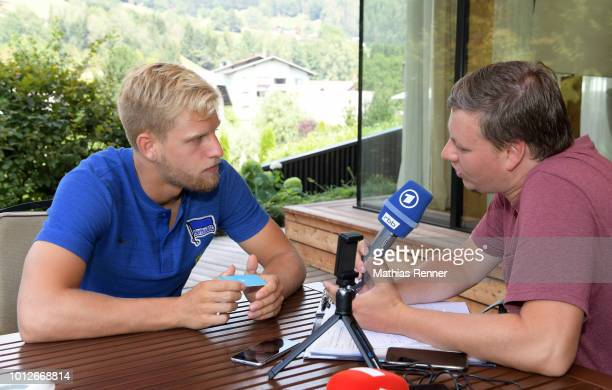 Arne Maier of Hertha BSC during the training camp at the Athletic Area Schladming on august 7 2018 in Schladming Austria