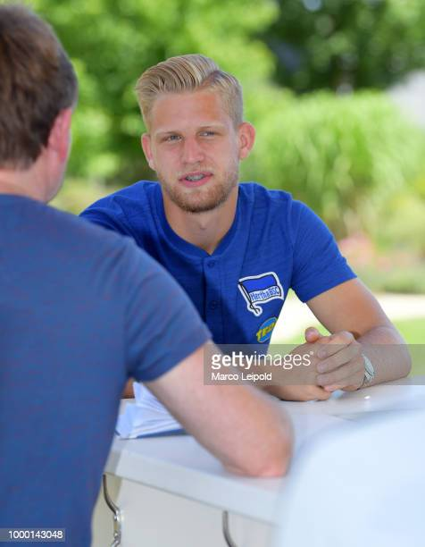 Arne Maier of Hertha BSC during the training camp at the Resort Mark Brandenburg on july 16 2018 in Neuruppin Germany