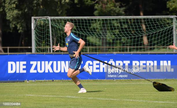 Arne Maier of Hertha BSC during the training camp at VolksparkStadion on July 16 2018 in Neuruppin Germany