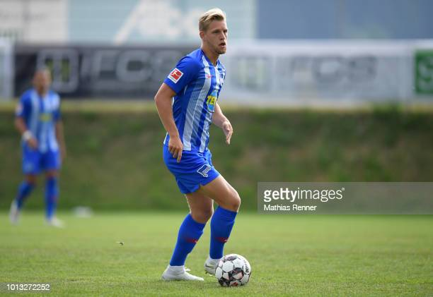 Arne Maier of Hertha BSC during the training camp on august 8 2018 in Schladming Austria