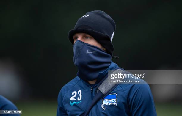Arne Maier of Hertha BSC during the training session at Schenkendorfplatz on November 26 2018 in Berlin Germany