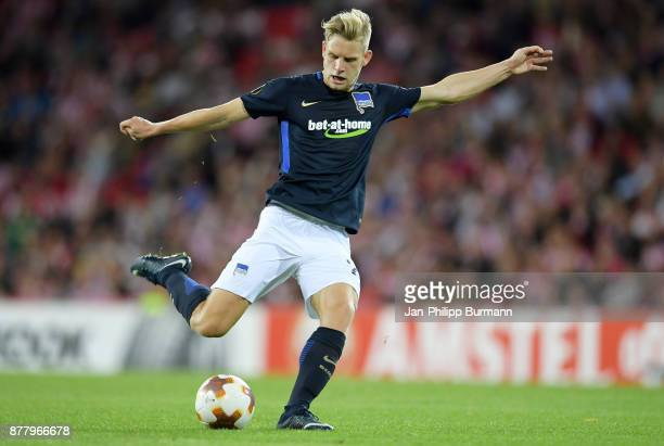Arne Maier of Hertha BSC during the UEFA Europe League Group J match between Athletic Bilbao and Hertha BSC at San Mames Stadium on November 23 2017...